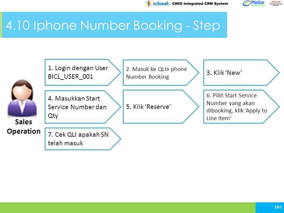 4.10 Iphone Number Booking - Step