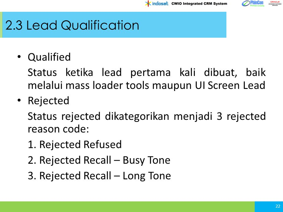 2.3 Lead Qualification Qualified