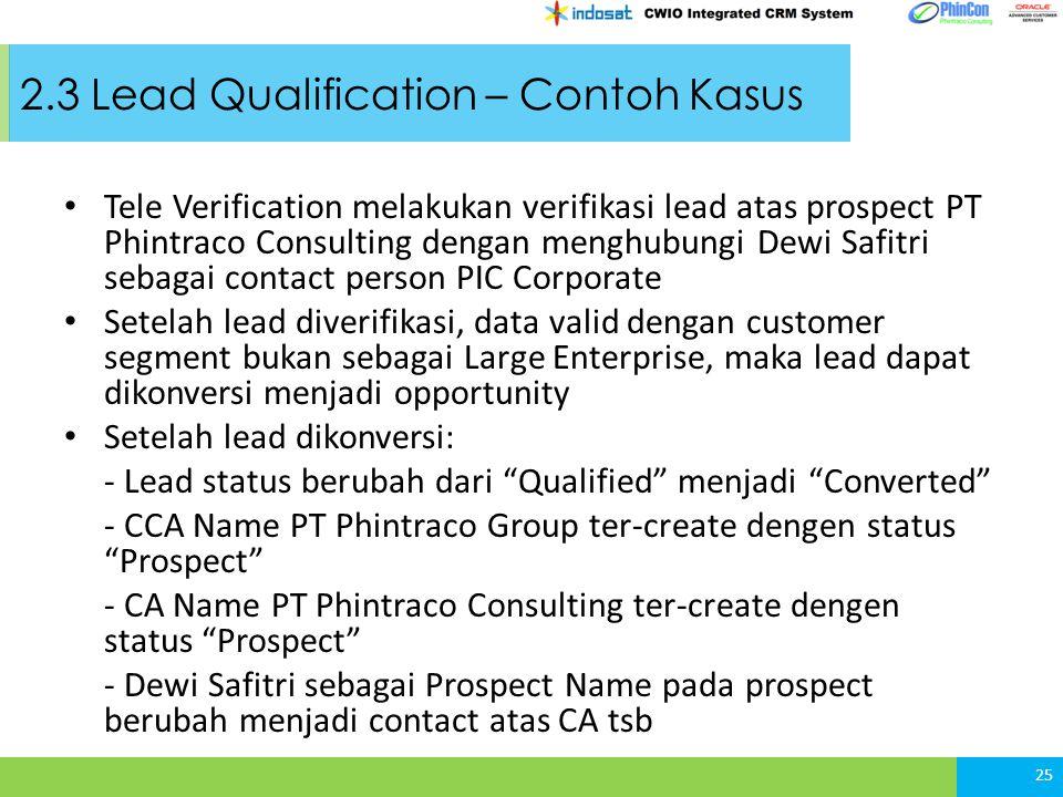 2.3 Lead Qualification – Contoh Kasus