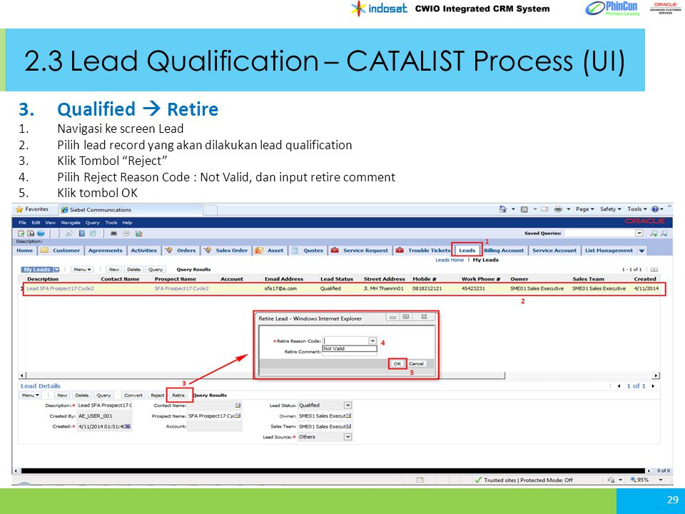 2.3 Lead Qualification – CATALIST Process (UI)