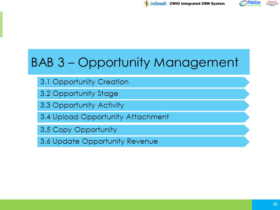 BAB 3 – Opportunity Management