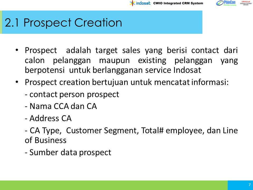 2.1 Prospect Creation