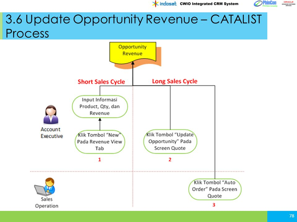3.6 Update Opportunity Revenue – CATALIST Process
