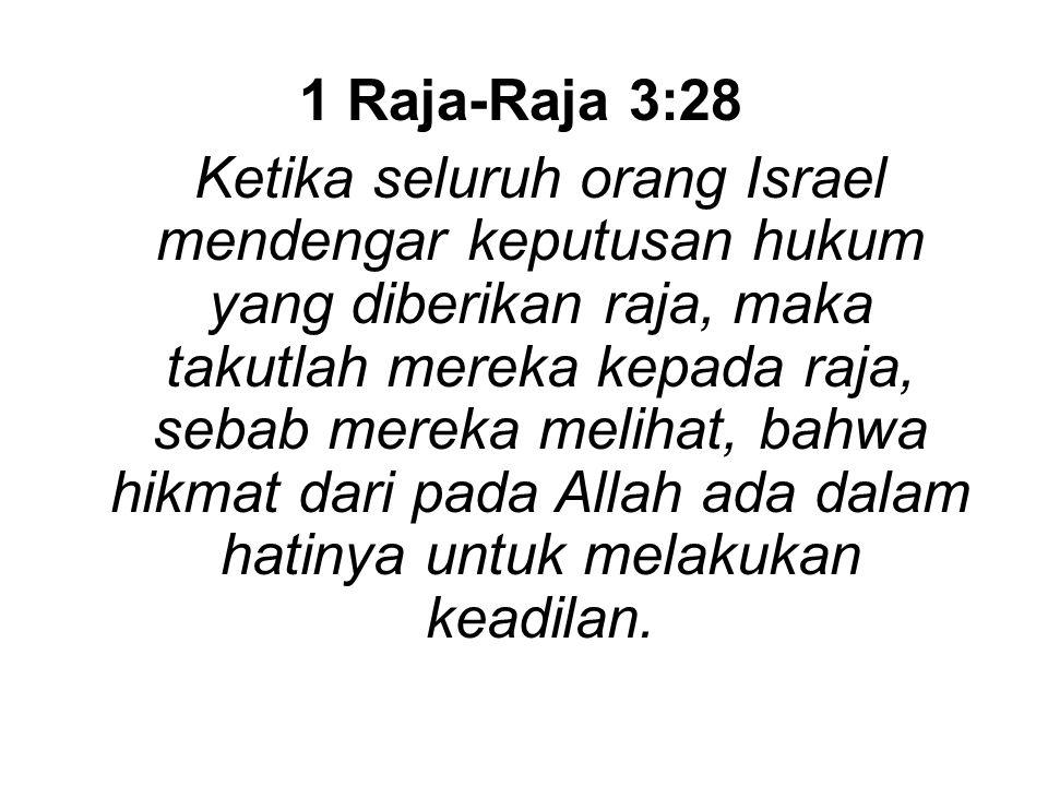 1 Raja-Raja 3:28