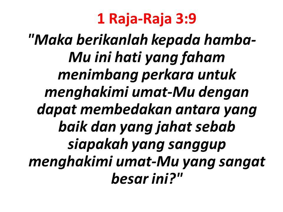 1 Raja-Raja 3:9