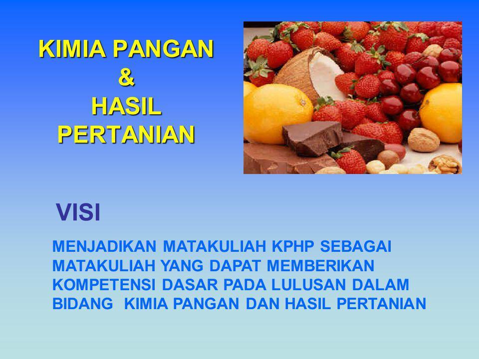 KIMIA PANGAN & HASIL PERTANIAN