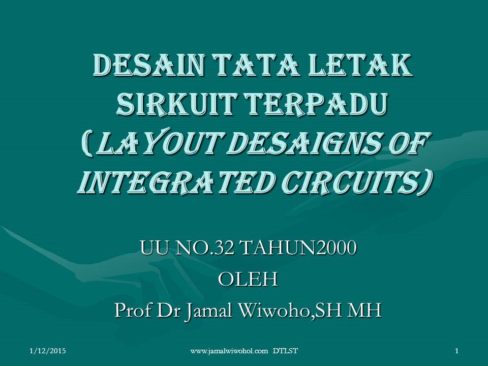 UU NO.32 TAHUN2000 OLEH Prof Dr Jamal Wiwoho,SH MH