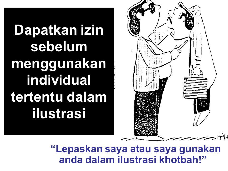 Dapatkan izin sebelum menggunakan individual tertentu dalam ilustrasi