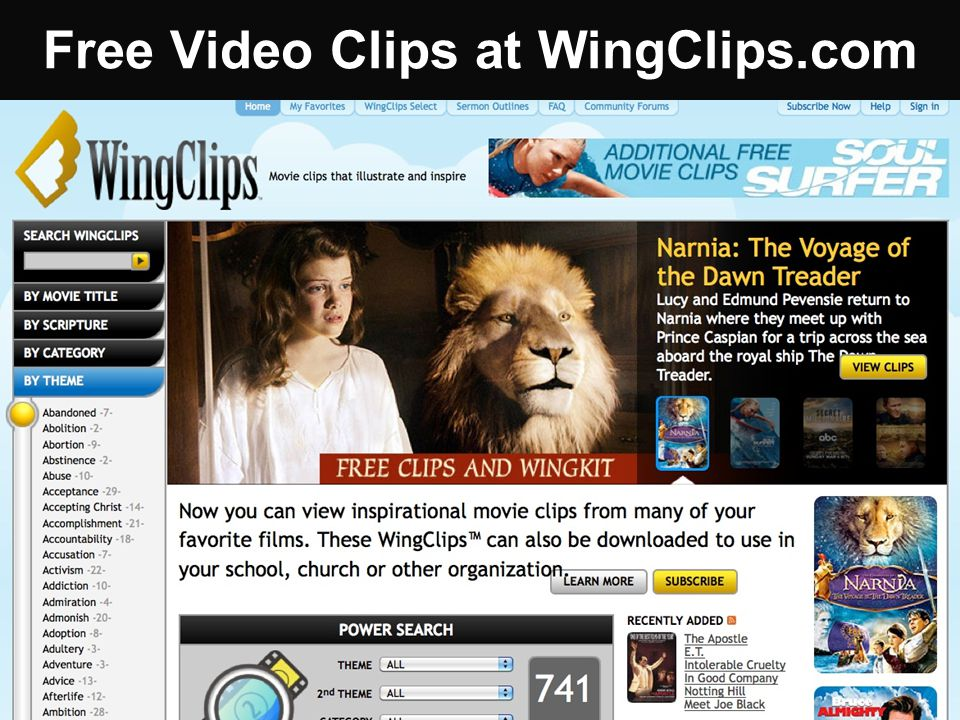 Free Video Clips at WingClips.com