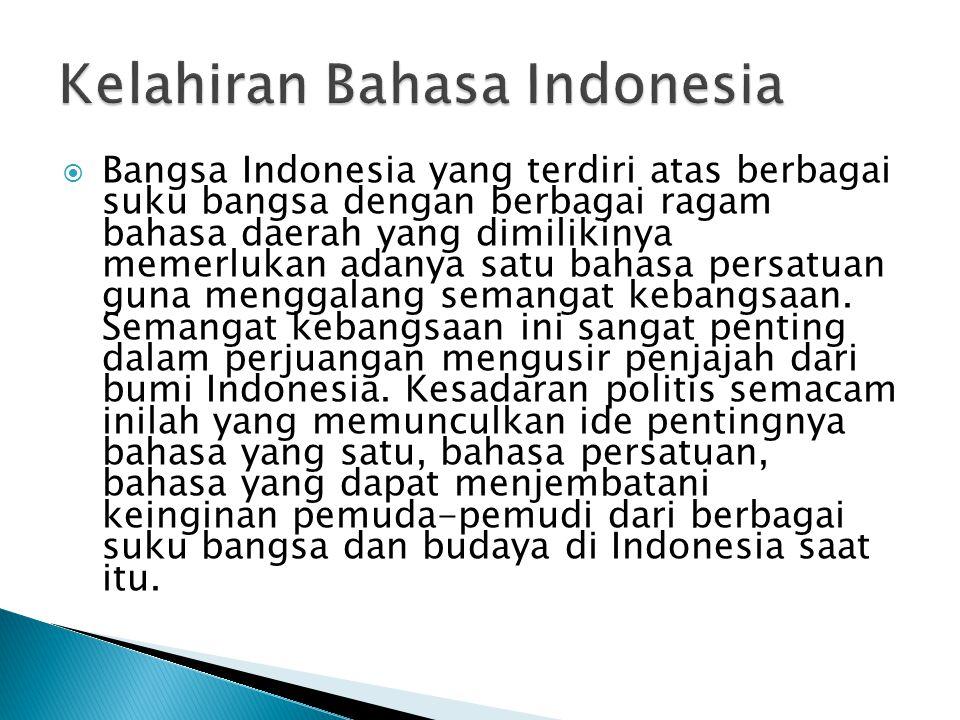 Kelahiran Bahasa Indonesia