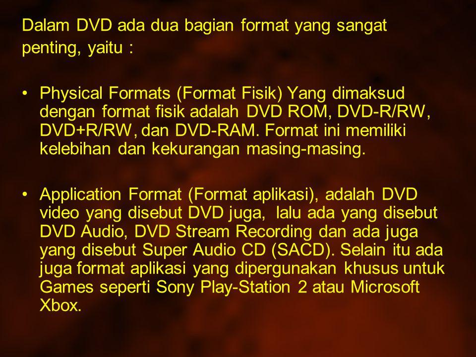 Dalam DVD ada dua bagian format yang sangat