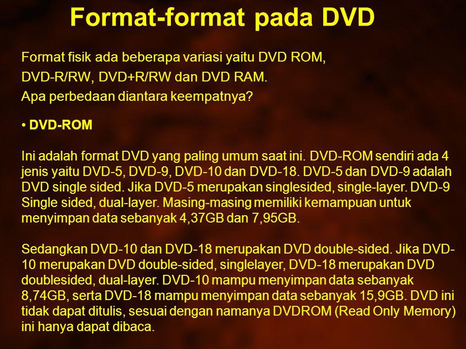Format-format pada DVD