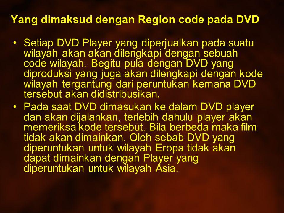 Yang dimaksud dengan Region code pada DVD