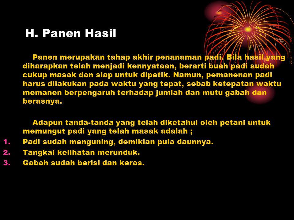 H. Panen Hasil