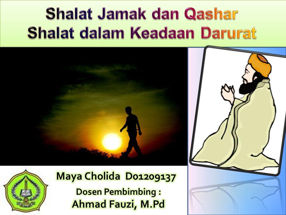 Shalat Jamak dan Qashar Shalat dalam Keadaan Darurat