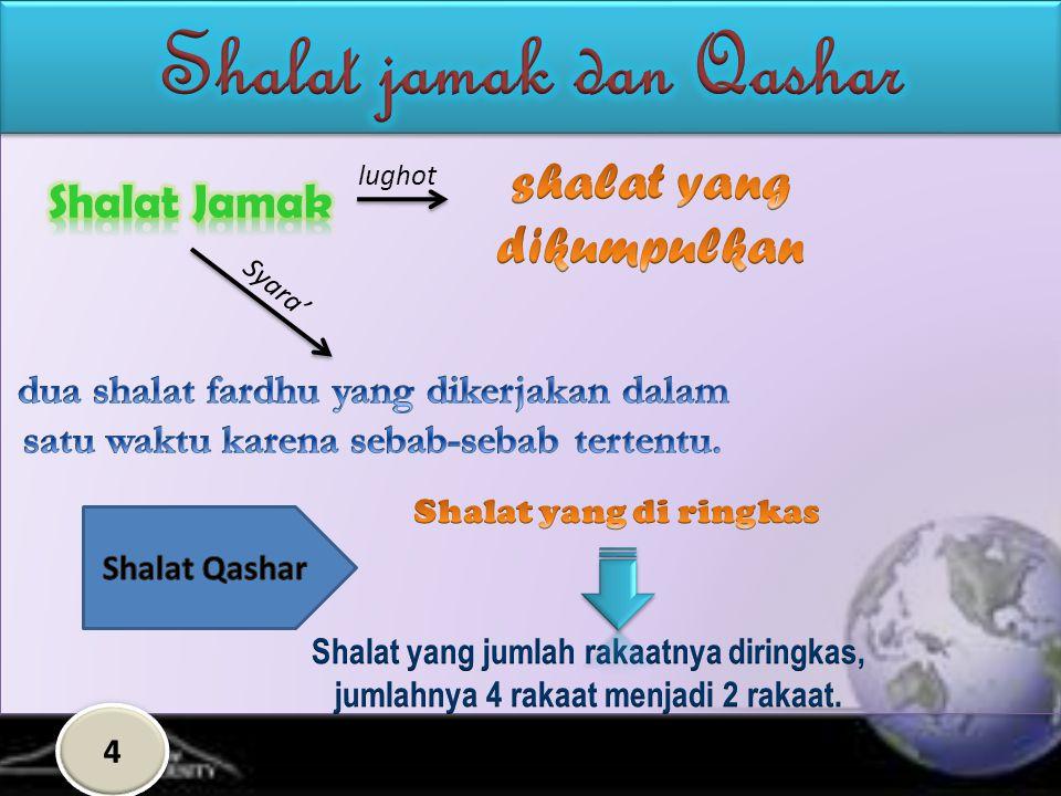 Shalat jamak dan Qashar shalat yang dikumpulkan