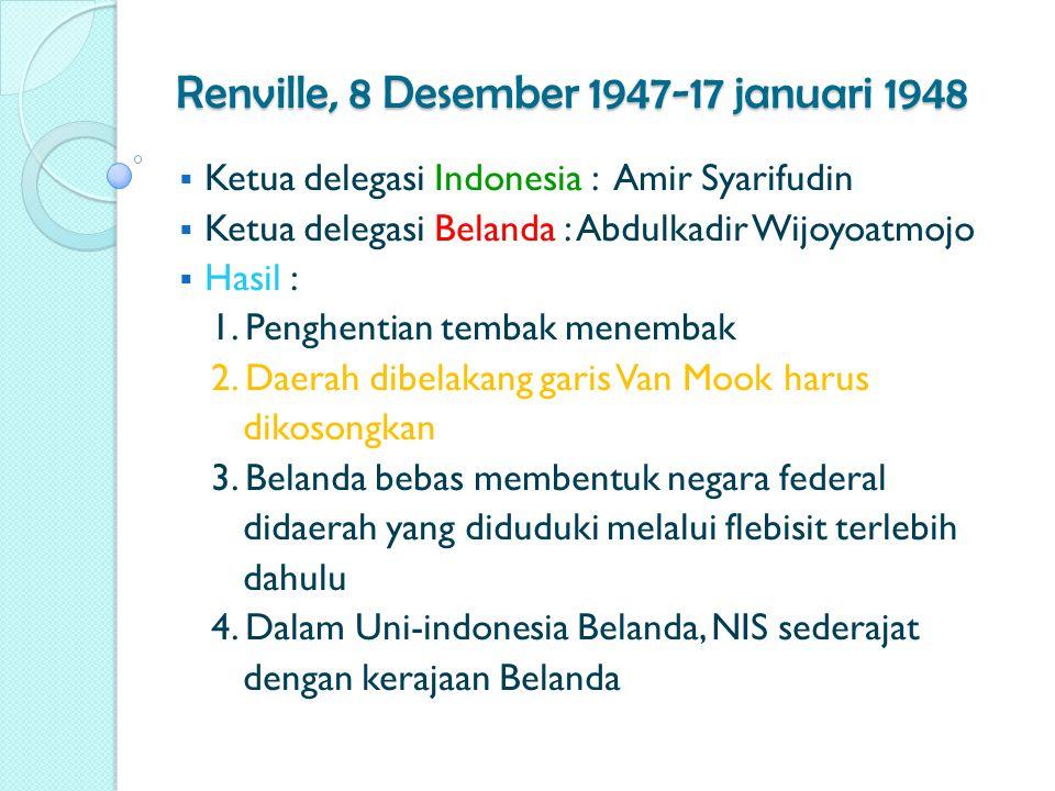 Renville, 8 Desember 1947-17 januari 1948