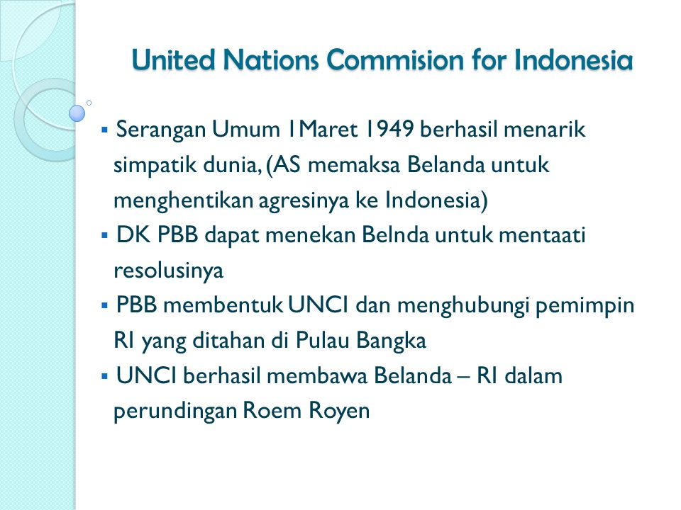 United Nations Commision for Indonesia