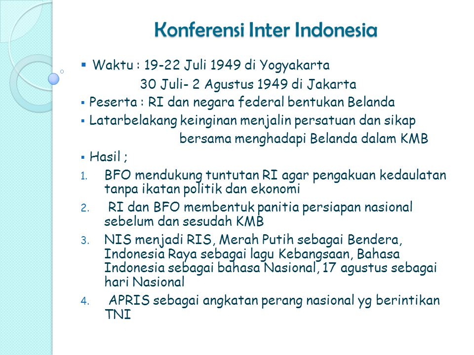 Konferensi Inter Indonesia