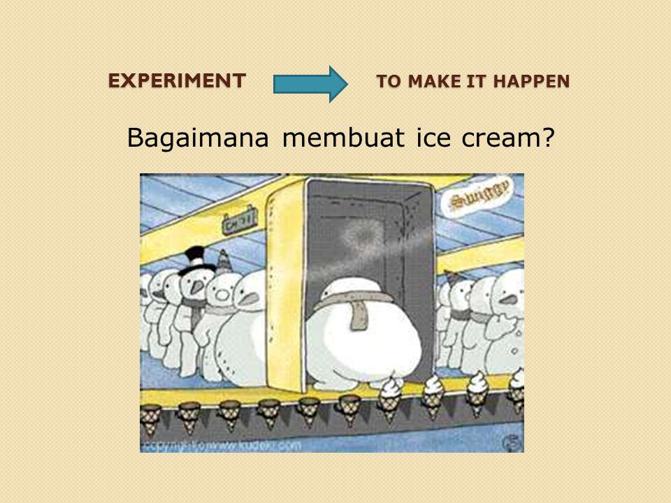 Bagaimana membuat ice cream