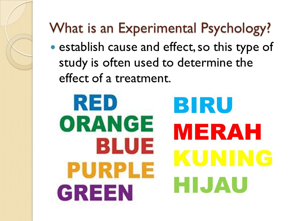What is an Experimental Psychology