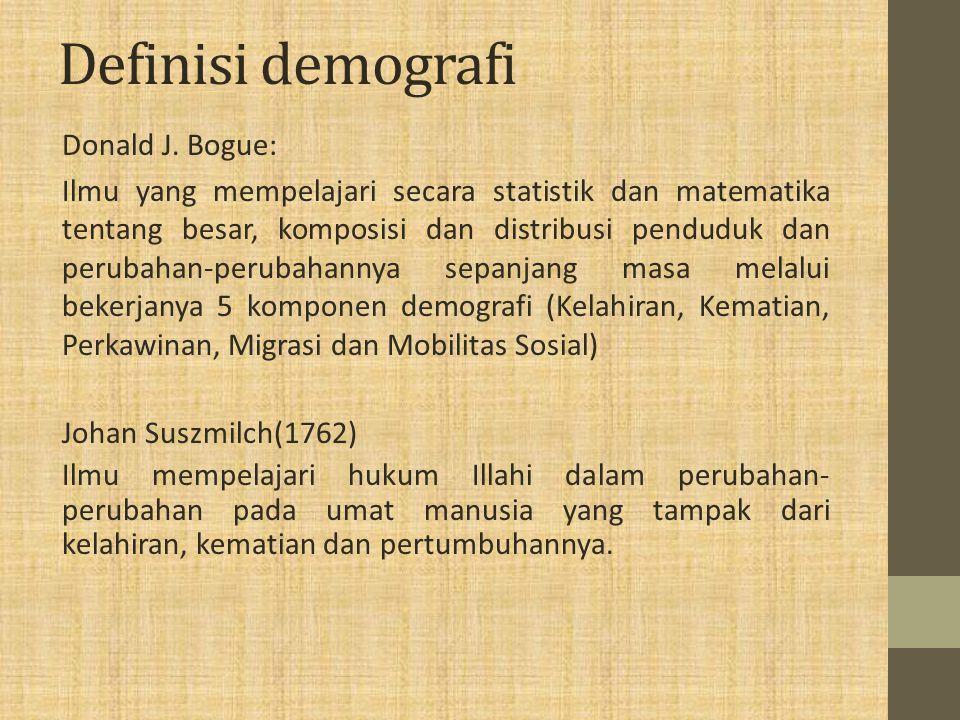 Definisi demografi