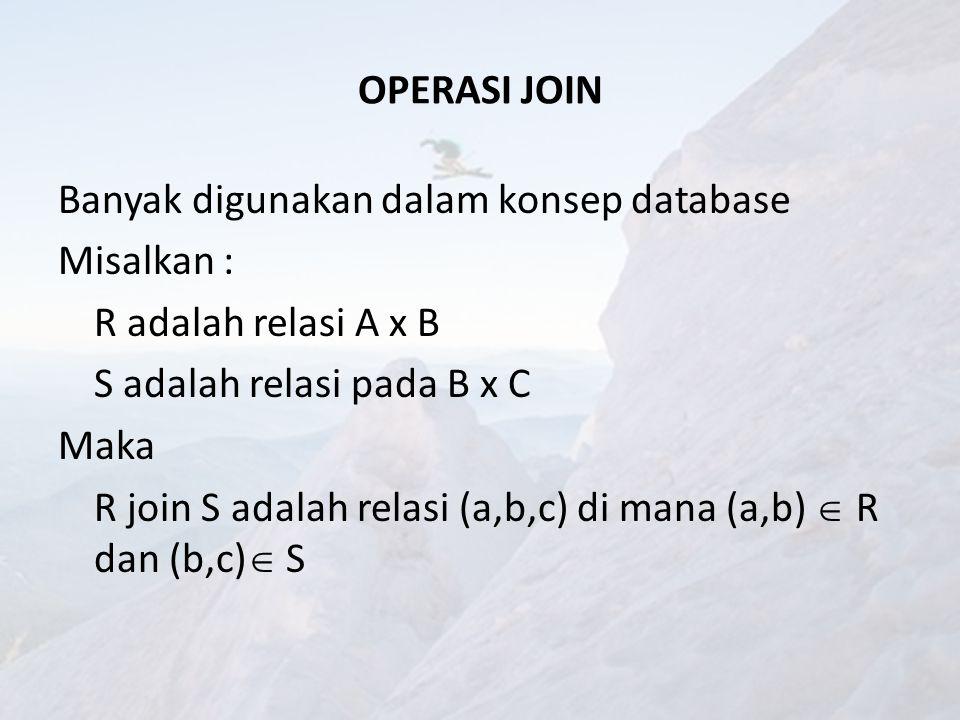 OPERASI JOIN