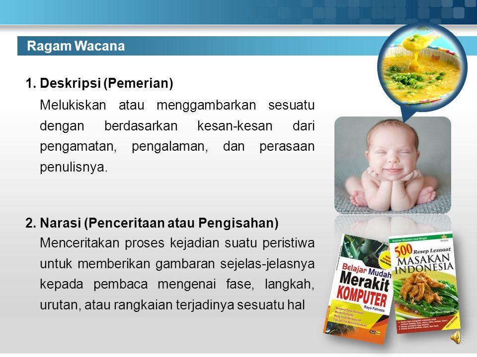 Ragam Wacana 1. Deskripsi (Pemerian)