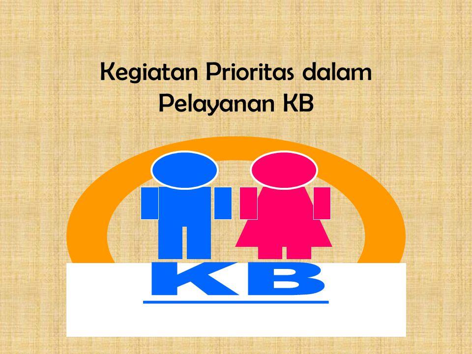 Kegiatan Prioritas dalam Pelayanan KB