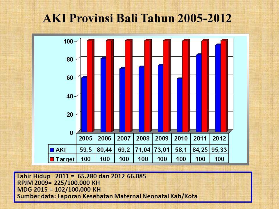 AKI Provinsi Bali Tahun 2005-2012