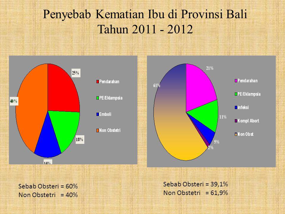 Penyebab Kematian Ibu di Provinsi Bali Tahun 2011 - 2012