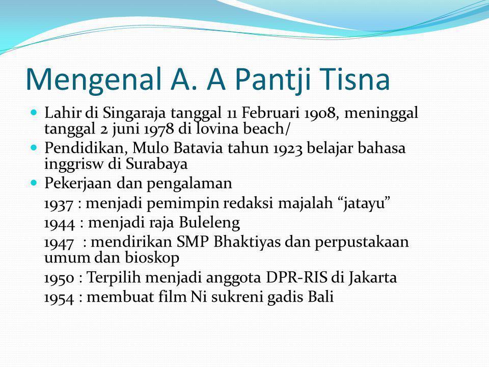 Mengenal A. A Pantji Tisna