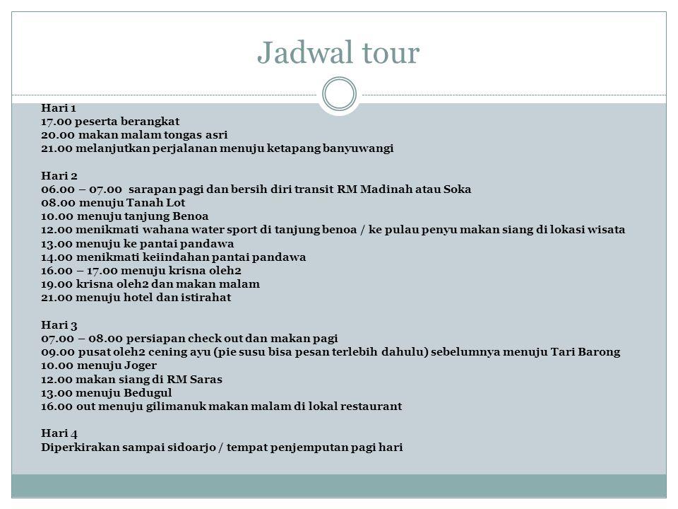 Jadwal tour