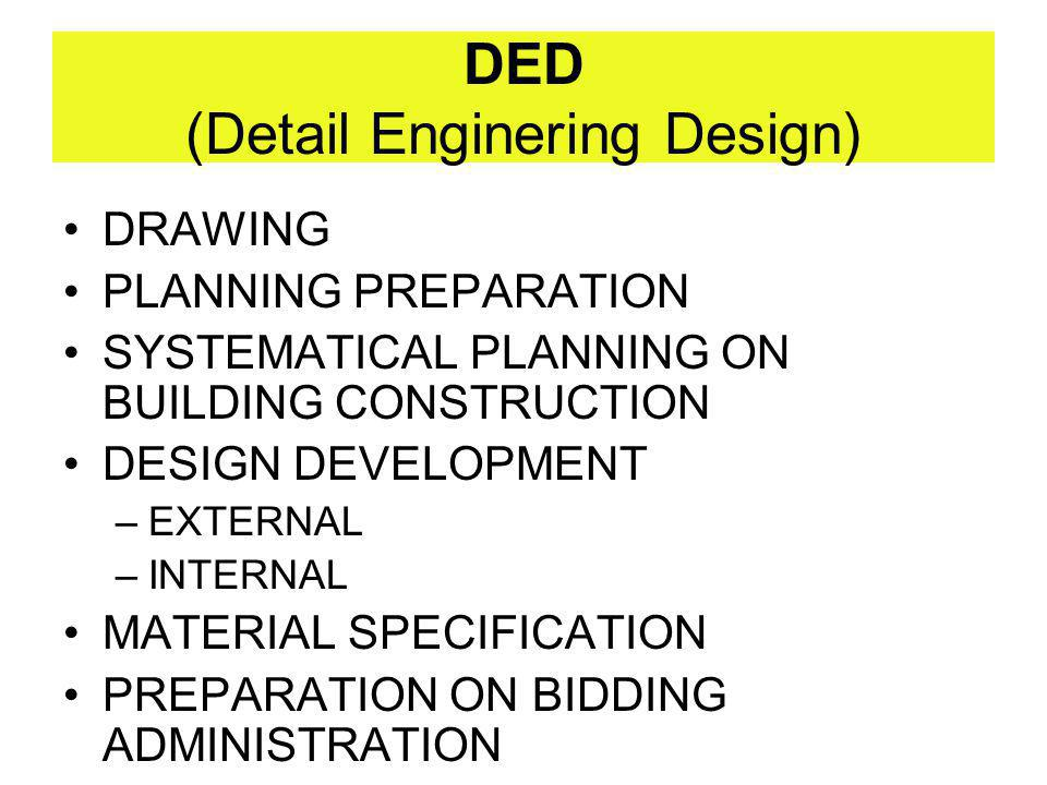 DED (Detail Enginering Design)