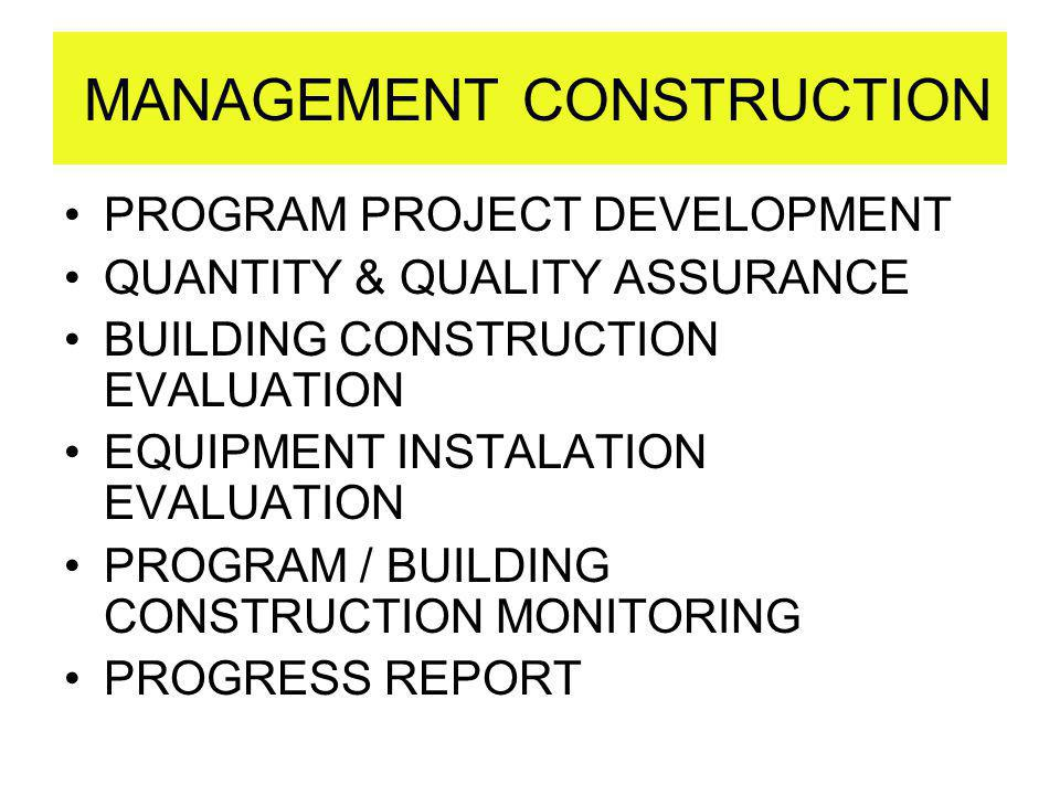 MANAGEMENT CONSTRUCTION
