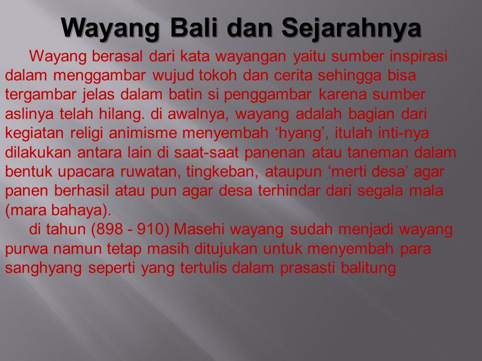 Wayang Bali dan Sejarahnya