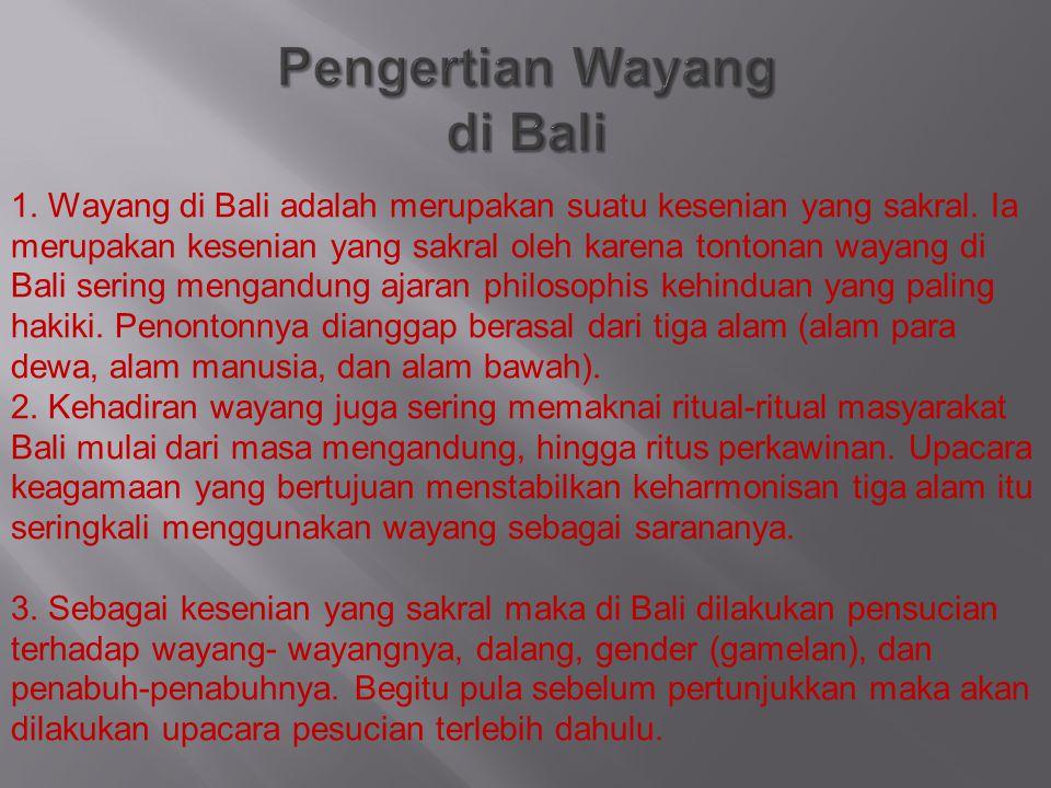 Pengertian Wayang di Bali