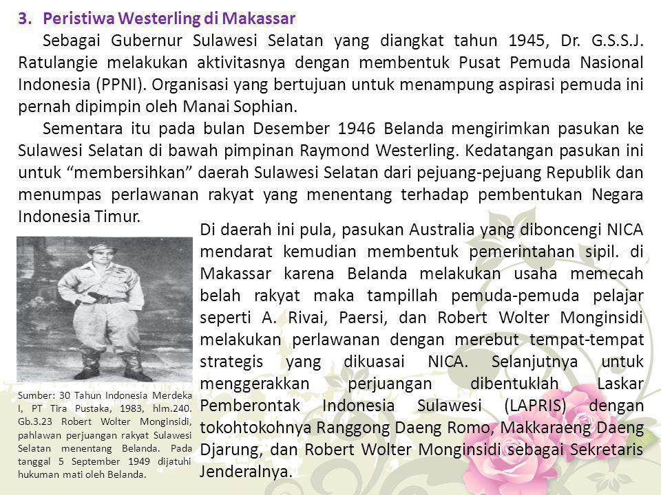 3. Peristiwa Westerling di Makassar