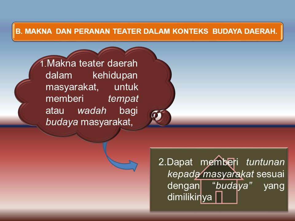 B. MAKNA DAN PERANAN TEATER DALAM KONTEKS BUDAYA DAERAH.
