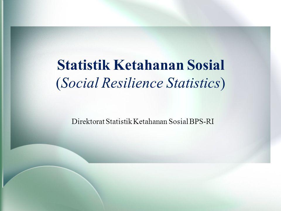 Statistik Ketahanan Sosial (Social Resilience Statistics)