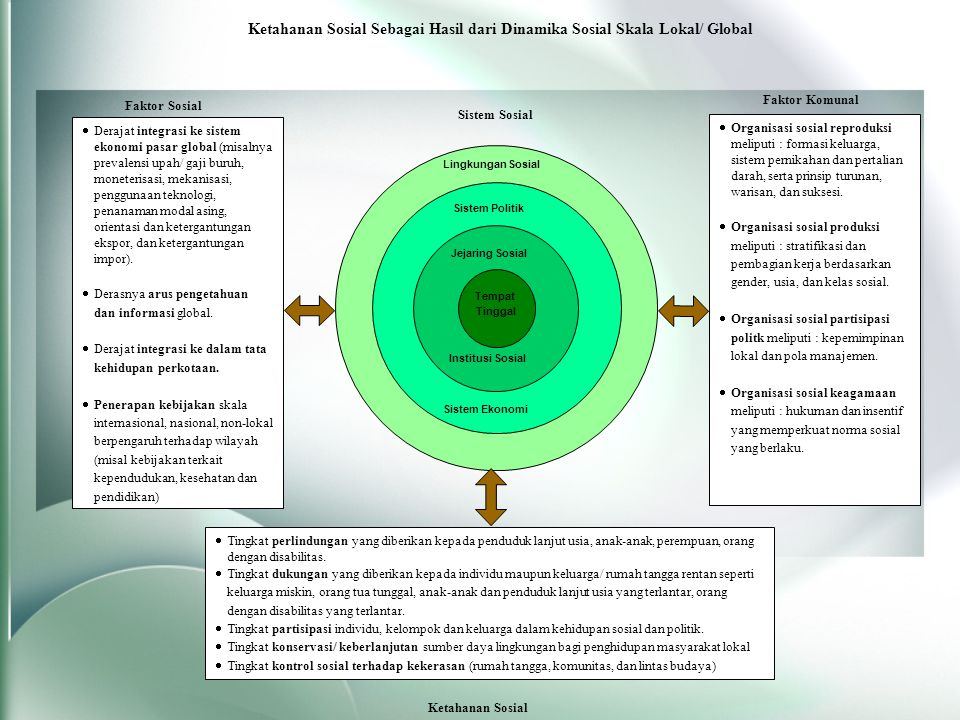 Ketahanan Sosial Sebagai Hasil dari Dinamika Sosial Skala Lokal/ Global
