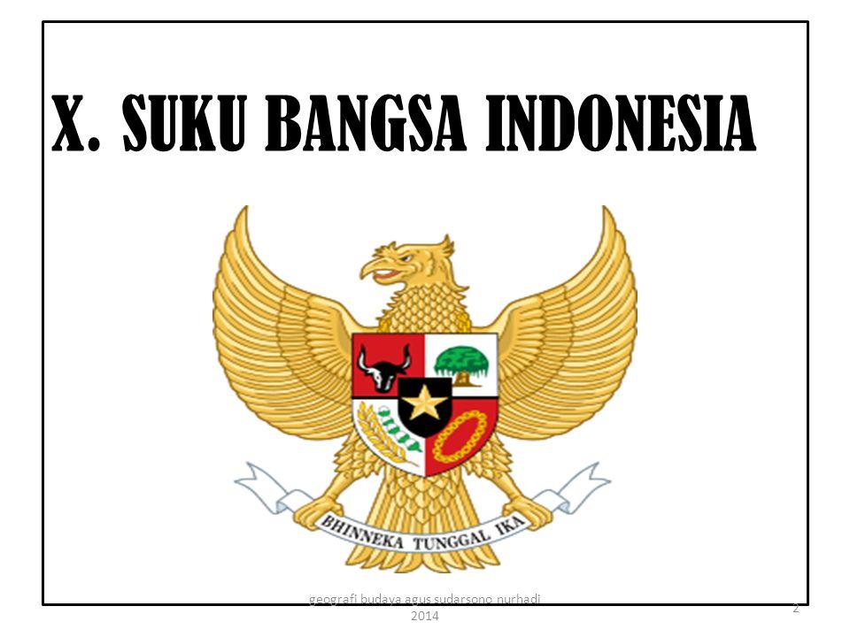 X. SUKU BANGSA INDONESIA