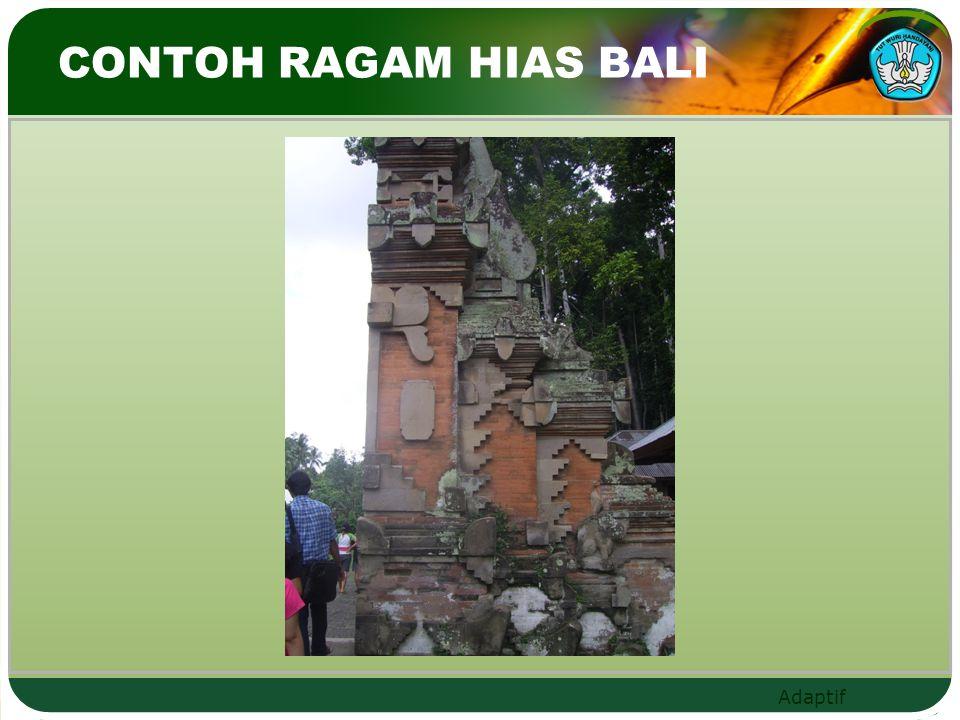CONTOH RAGAM HIAS BALI