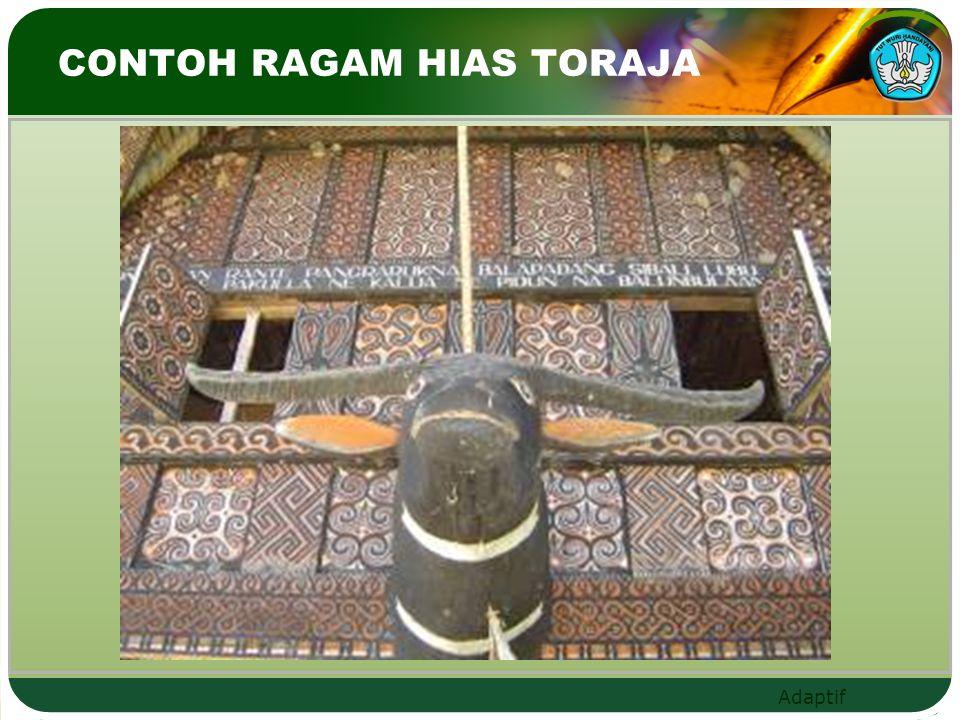 CONTOH RAGAM HIAS TORAJA