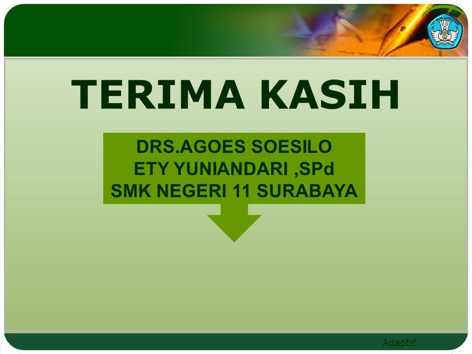TERIMA KASIH DRS.AGOES SOESILO ETY YUNIANDARI ,SPd