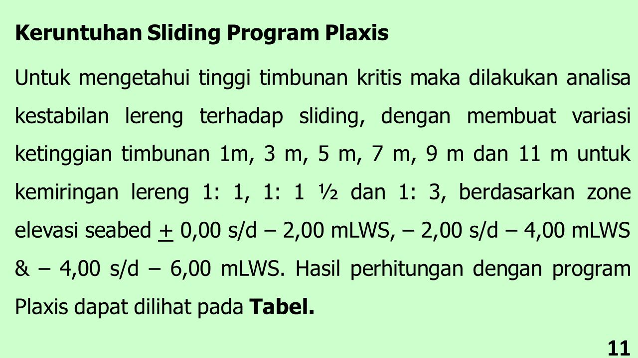 Keruntuhan Sliding Program Plaxis