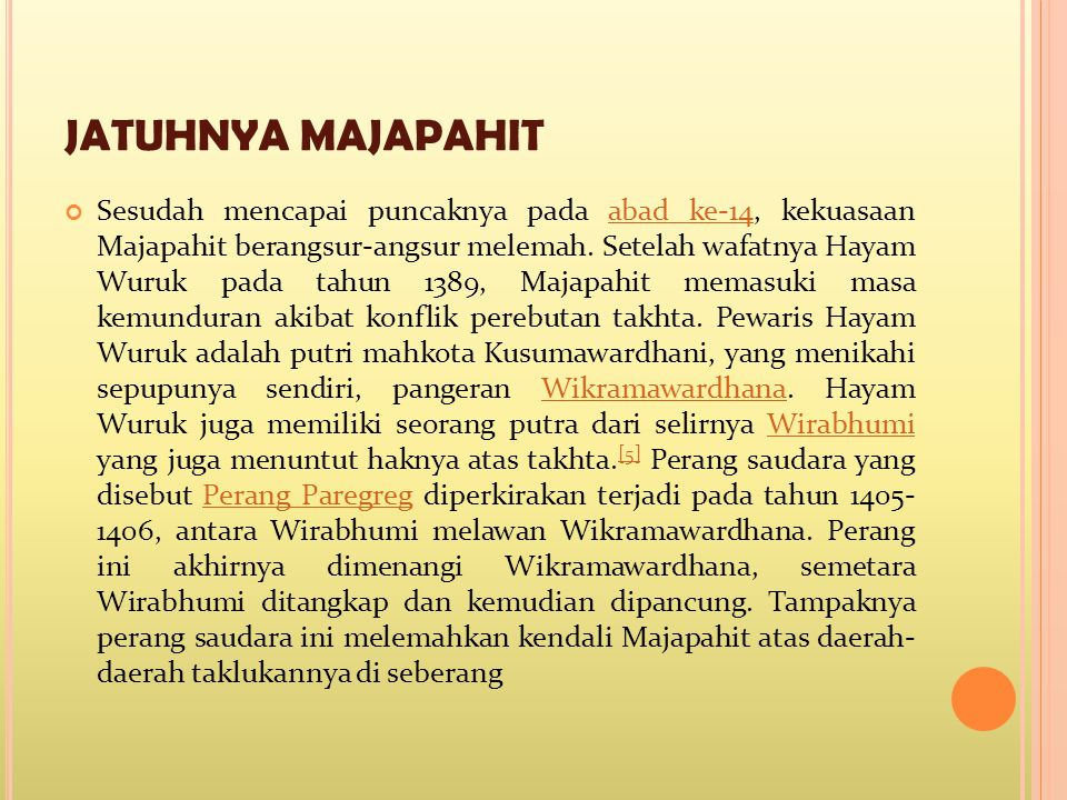 JATUHNYA MAJAPAHIT