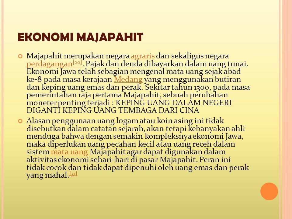 EKONOMI MAJAPAHIT