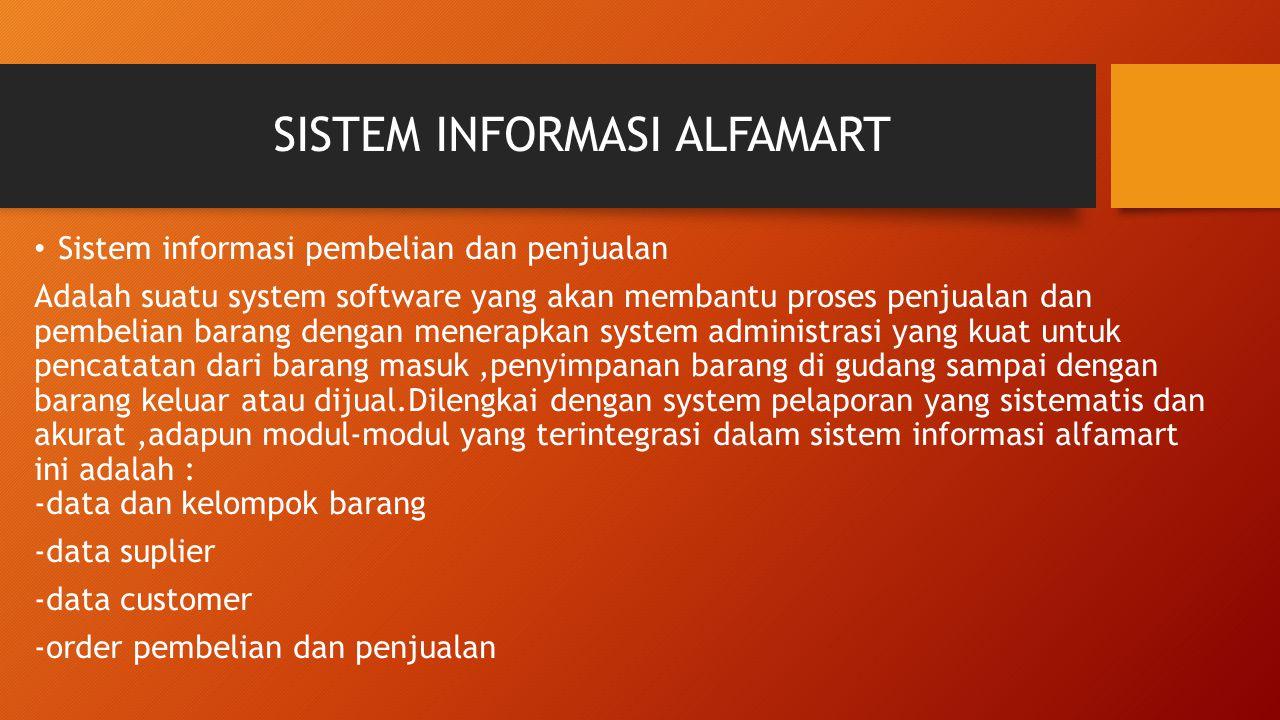 SISTEM INFORMASI ALFAMART