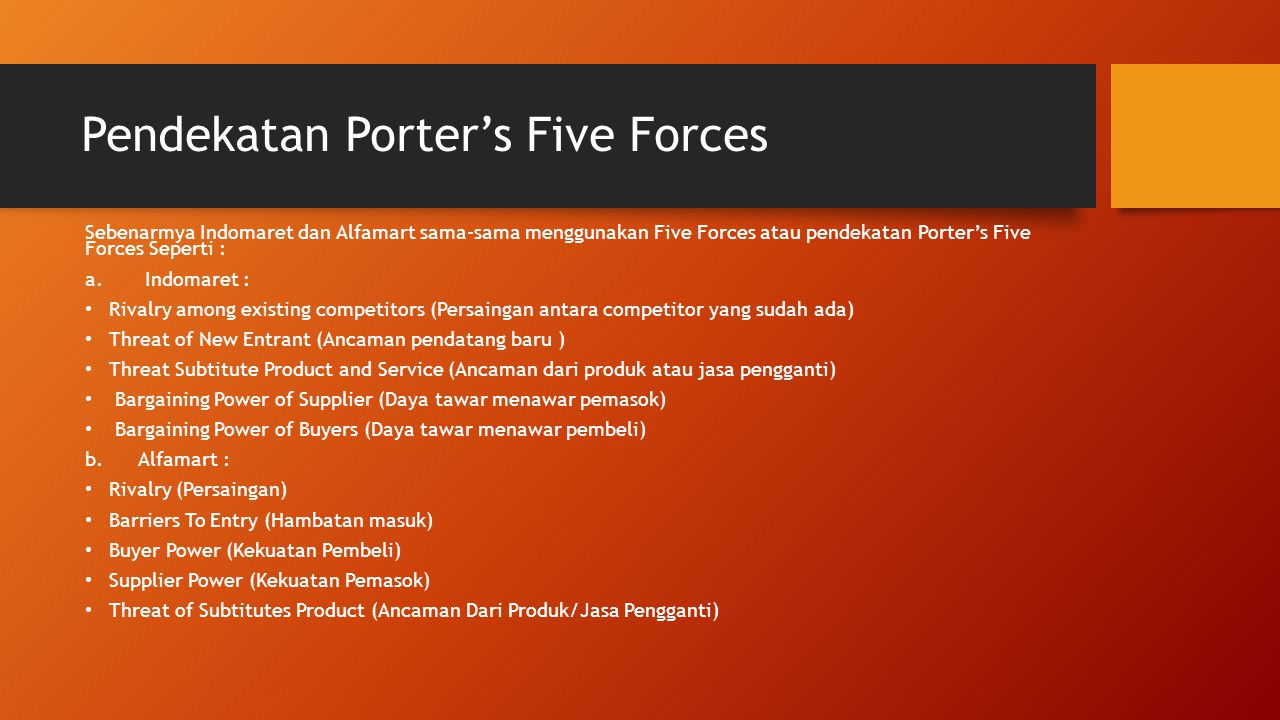 Pendekatan Porter's Five Forces